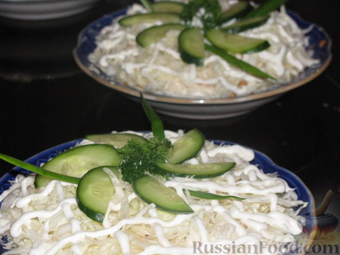 Рецепт Салат с капустой и шпротами
