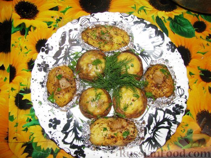 Рецепт Фаршированные шампиньоны в духовке