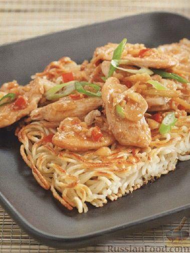 Рецепт Жареная лапша с куриным мясом