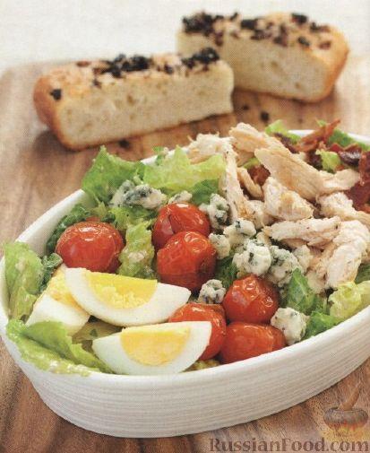 Рецепт Салат с жареными помидорами
