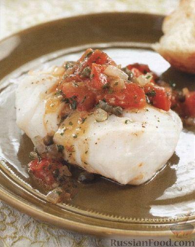Рецепт Филе трески, приготовленное в томатном соусе