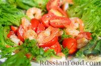 Фото к рецепту: Салат с креветками