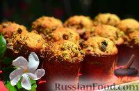 Фото к рецепту: Творожные кексы с фисташками и грецкими орехами