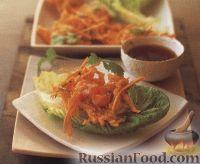 Фото к рецепту: Креветки и батат во фритюре