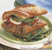 Фото к рецепту: Сэндвич по-калифорнийски