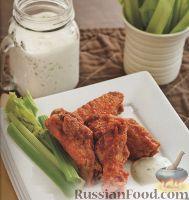 Фото к рецепту: Куриные крылышки во фритюре