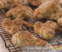 Фото к рецепту: Курятина в панировке, жаренная в духовке