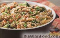 Фото к рецепту: Рис с курятиной, овощами и каштанами