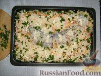 Фото приготовления рецепта: Щука, запеченная с картофелем - шаг №7