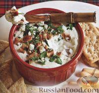 Фото к рецепту: Закуска из голубого сыра и бекона