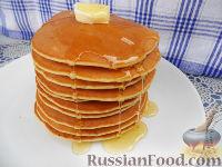 Фото к рецепту: Американские блинчики (pancakes)