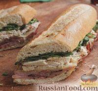 Фото к рецепту: Бутерброд с ветчиной