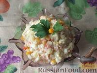 Фото к рецепту: Салатик из крабовых палочек