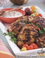 Фото к рецепту: Куриные бедрышки, жаренные на гриле