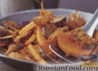 Фото к рецепту: Овощи, жаренные во фритюре