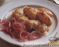 Фото к рецепту: Картофель с сыром и маринованным луком
