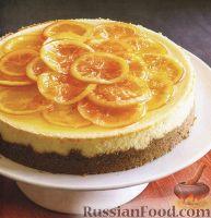 Фото к рецепту: Чизкейк с апельсинами