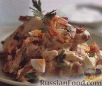 Фото к рецепту: Картофельный салат с яйцами, сельдереем и беконом