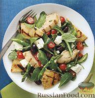 Фото к рецепту: Салат из куриного филе с зеленью