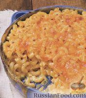 Фото к рецепту: Макароны, запеченные с сыром