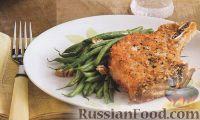 Фото к рецепту: Жареная свинина с печеной стручковой фасолью