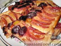 Фото к рецепту: Песочный пирог с фруктами
