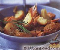Фото к рецепту: Салат из печеного картофеля и форели