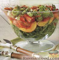 Фото к рецепту: Красочный фруктово-овощной салат
