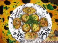 Фото к рецепту: Фаршированные шампиньоны в духовке