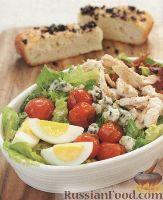 Фото к рецепту: Салат с жареными помидорами