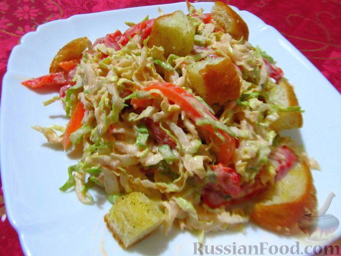 салат из перца болгарского и пекинской капусты