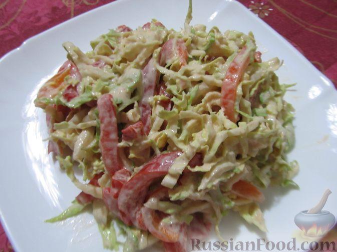 фото рецепт маринованный салат из капусты