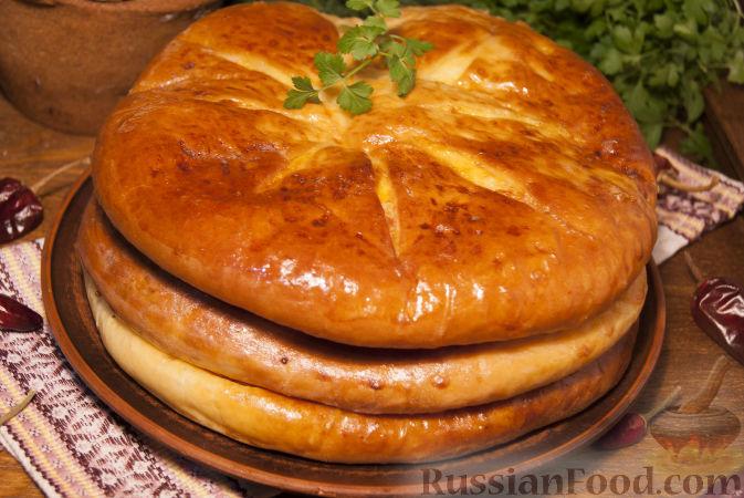 Осетинский пирог на кефире с сыром и зеленью рецепт
