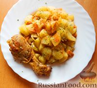 Фото к рецепту: Курица в чайном маринаде, приготовленная в мультиварке