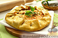 Фото к рецепту: Галета с курицей и овощами
