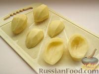 Фото приготовления рецепта: Картофель, фаршированный по-итальянски - шаг №2