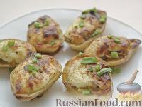 Фото приготовления рецепта: Картофель, фаршированный по-итальянски - шаг №9