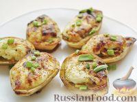 Фото к рецепту: Картофель, фаршированный по-итальянски