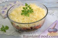 """Фото к рецепту: Салат """"Морской"""" с мидиями"""