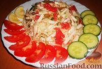 Фото к рецепту: Салат из редьки с капустой и грейпфрутом