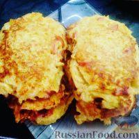 Фото к рецепту: Капустные шницели с сосисками