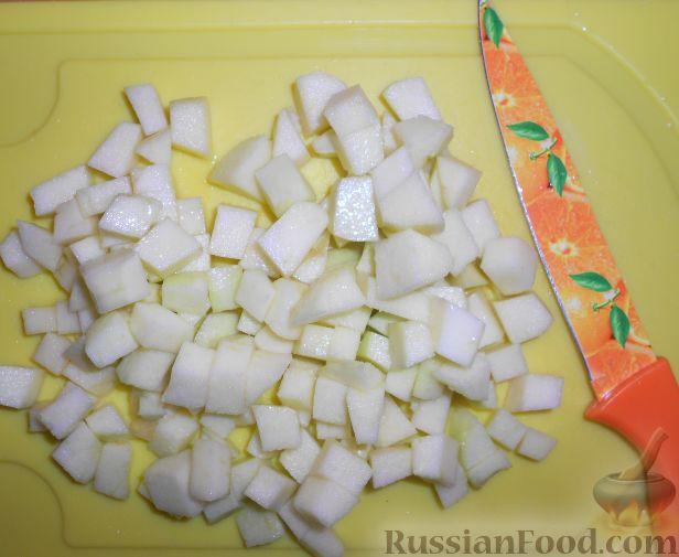 """Фото приготовления рецепта: Фруктовый салат """"Изумрудная черепаха"""" - шаг №4"""