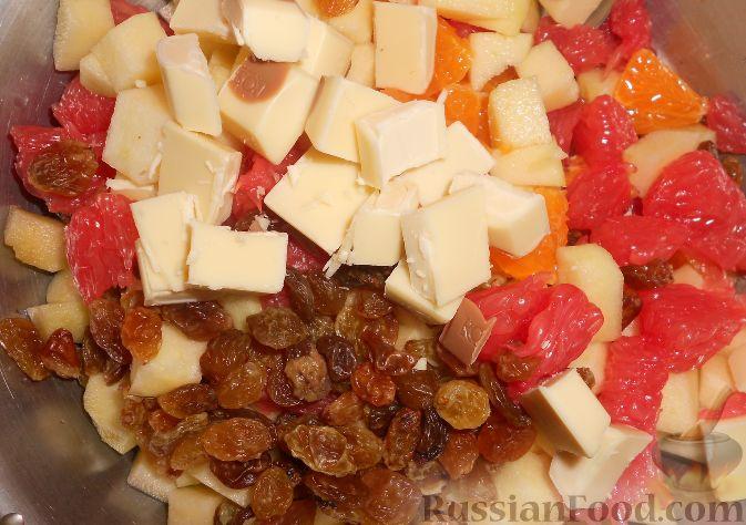 """Фото приготовления рецепта: Фруктовый салат """"Изумрудная черепаха"""" - шаг №7"""