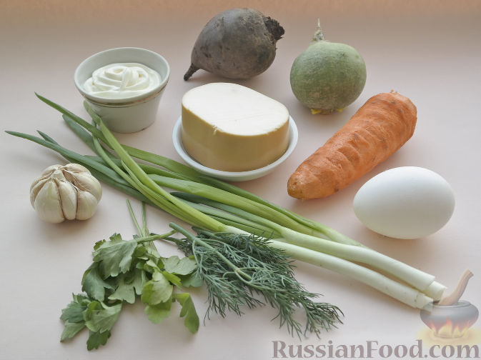 """Фото приготовления рецепта: Овощной салат-микс """"Тюльпаны к 8 Марта"""" - шаг №1"""