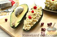 Фото к рецепту: Салат с авокадо и арахисом