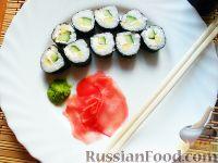 Фото к рецепту: Овощные роллы со сливочным сыром