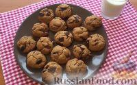 Фото к рецепту: Арахисовое печенье с шоколадом