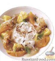 Фото к рецепту: Фруктовый салат с козьим сыром