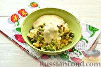 Фото приготовления рецепта: Фруктовый салат к 8 Марта «С добрым утром, дорогая!» - шаг №8