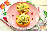Фото приготовления рецепта: Фруктовый салат к 8 Марта «С добрым утром, дорогая!» - шаг №13